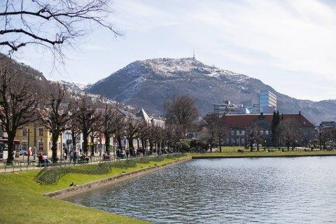 Det blir seks til åtte grader i Bergen i helgen.