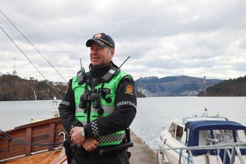 Politioverbetjent Kurt Inge Hordvik deltok i søket lørdag.
