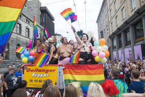 Fra Prideparaden i Bergen før pandemien i 2018.