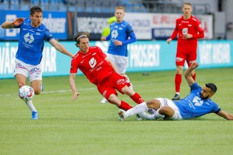 Kasper Skaanes kom rett fra karantene og gikk rett inn på laget til Brann.