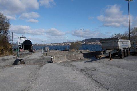 I dag er det ingen aktivitet på kaiområdet på Steinestø.
