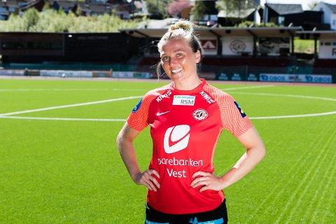 Karoline Heimvik Haugland er vikar for Marija Aleksic som røk korsbåndet for to uker siden.