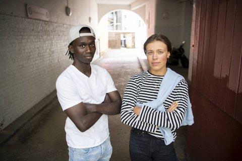 Frank Odin Mahoro Niyokindi og Emma Myrdal Jøsendal skal antagelig snart opp i muntlig eksamen.