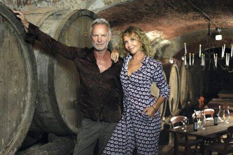 Sting og konen, Trudie Styler eier vingården Tenuta Il Palagio i Toscana. Nå er flere parets viner også tilgjengelige i Norge.