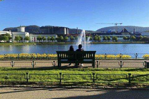Sommertemperaturene holder stand i Bergen.