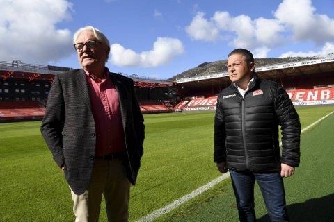 Brann innkalte til pressekonferanse på Stadion fredag formiddag. Styrelederne Birger Grevstad i Brann og Pål Hansen i Sandviken samarbeid kan bli en suksess.