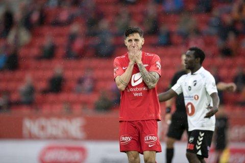 Kaptein Daniel Pedersen og Brann spiller torsdag bortekamp mot Haugesund.