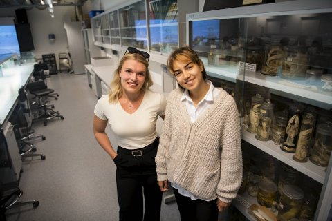 Anna Nygård Johansen (t.v) og Margrethe Øen begynner snart på masteren i henholdsvis  fiskehelse og havbruk. De skal inn i en næring som svært mange studenter vil jobbe i, men som de færreste vet nok om.