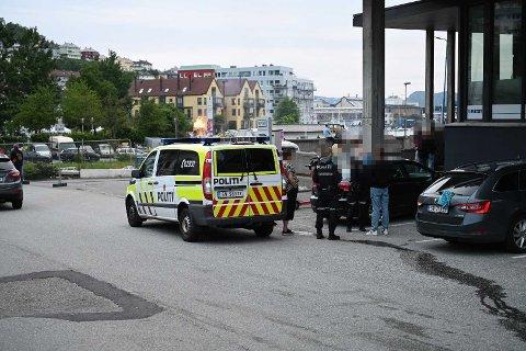 Politiet rykket ut til voldshendelsen på Laksevåg onsdag kveld.