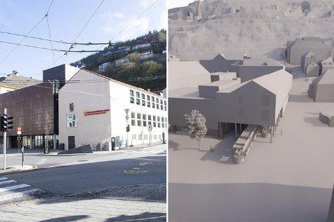 Deler av katedralskolen må rives og bygges om, før Bybanen går inn i fjell derfra.