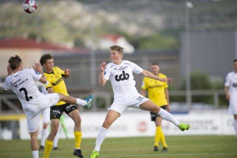 Andreas Fantoft satte hadde 22-årsdag onsdag, og satte like godt det første målet da Øygarden slo Notodden 2-0 på Ågotnes.