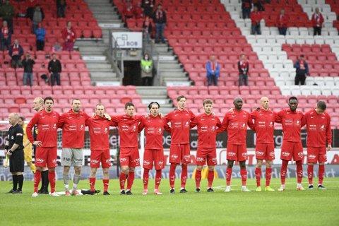 Dette var startelleveren da Brann møtte Bodø/Glimt 24. mai. Samtlige elleve har nedrykk på CV-en.