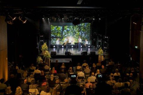 Saksofonkvartetten Arcturus åpner minnekonserten på USF Verftet.