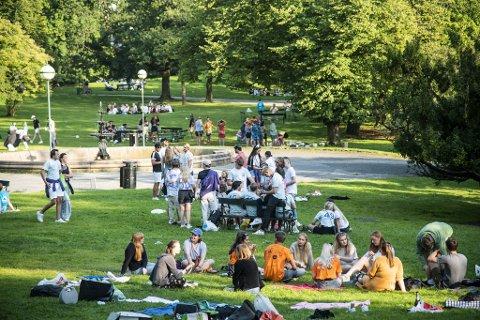 Under fjorårets fadderarrangement brukte flere læresteder Nygårdsparken som arena. Flere ble koronasmittet etter oppmøte her.