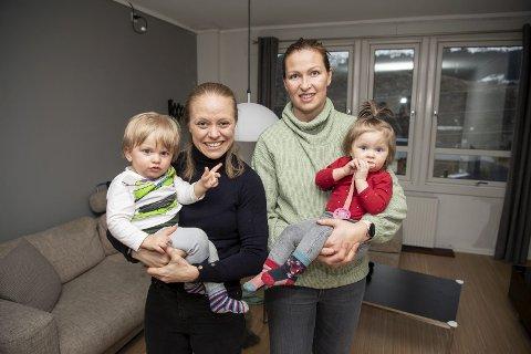 Arna-Bjørnar sikret seg Mia Jalkerud (t.v.) og Gudbjörg Gunnarsdóttir takket være tilrettelegging for barnepass av deres tvillinger William og Oliva på halvannet år.
