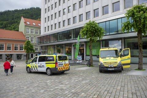 Helse og politi rykket ut til hendelsen.