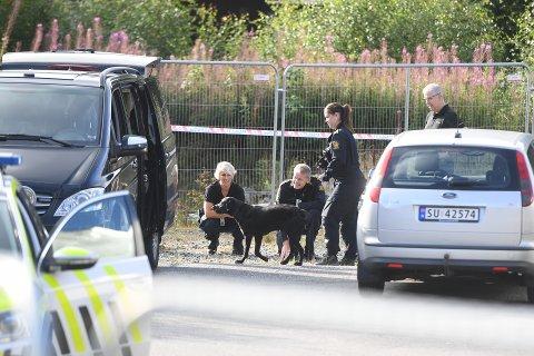Onsdag morgen startet søket med brannhund.