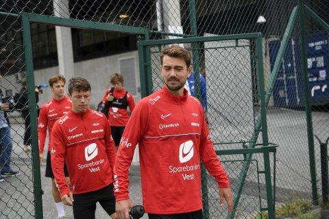 Torsdag er Fredrik Pallesen Knudsen på Brann-trening. 25-åringen har skrevet en kontrakt ut 2022-sesongen.