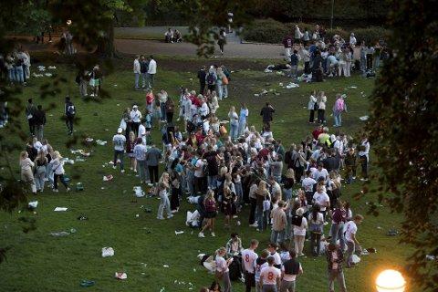 Bildet viser samlingen i Nygårdsparken tidligere denne uken.