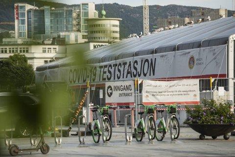 Det har igjen vært økt pågang på teststasjonene i Bergen den siste tiden.