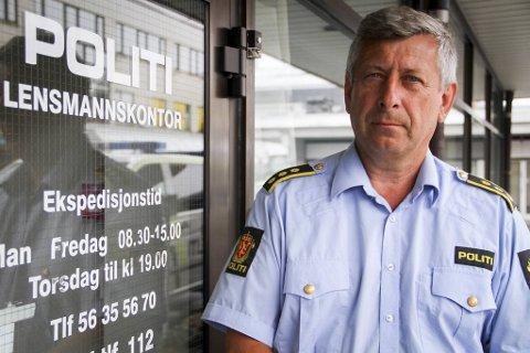 Stasjonssjef Kjell Idar Vangberg ved Nordhordland lensmannskontor mener det er ren flaks at ikke kjøringen endte i et trafikkuhell.