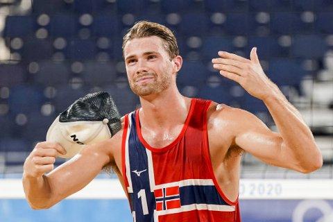 Anders Mol fra Strandvik i Bjørnafjorden kommune er klar for OL-finalen i sandvolleyball sammen med sin makker Christian Sørum.