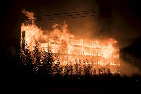 Bygningen i Arna ble overtent på svært kort tid.