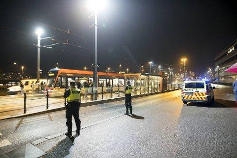 Politiet rykket ut til Nygårdsparken fredag kveld.