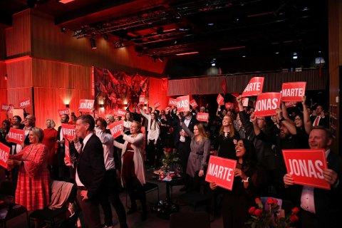 Bildene fra flere valgvaker, som dette fra Arbeiderpartiets på Verftet, provoserer uteliv og kulturliv.