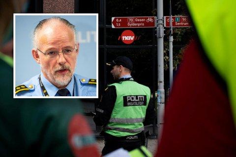 Politiinspektør Tore Salvensen bekrefter at politiet tirsdag gikk til aksjon etter at en Nav-ansatt ble utsatt for straffbare uttalelser på telefon.