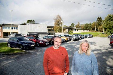 Rita Hove og Eirik Fjeldstad er avdelingsledere ved Kyrkjekrinsen skule i Åsane.