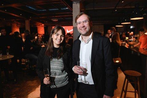 – Vi vil tilby det Bergen har savnet, sier Espen Overskeid. Her sammen med Hannah Stampe.