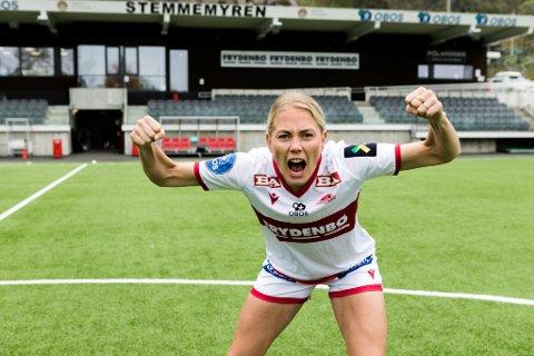 Guro Bergsvand har fått sine første landskamper og i serien har laget hennes stø kurs mot seriegull.