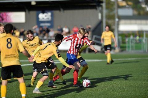 Herman Stang Stakset scoret ett mål og skaffet straffespark.