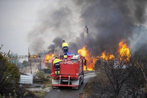 Storbrannen på Sotra i juni slukte et bolighus på Kårtveit.