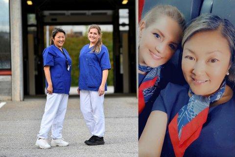Eline Meier og Maria Ese Meinertz jobber begge fulltid i Norwegian og på teststasjonen på Spelhaugen.