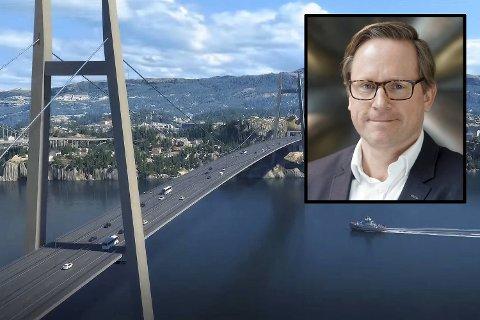 Sotra Link gikk av med seieren i konkurransen om å få bygge Sotrasambandet. Illustrasjon: Statens vegvesen.