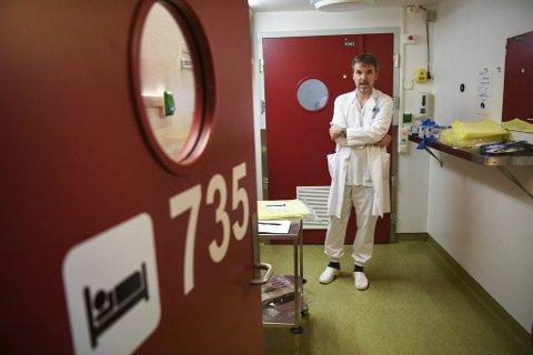 Trond Bruun og Haukeland sykehus hadde ingen influensapasienter forrige sesong.  Denne høsten kan det snu brått.