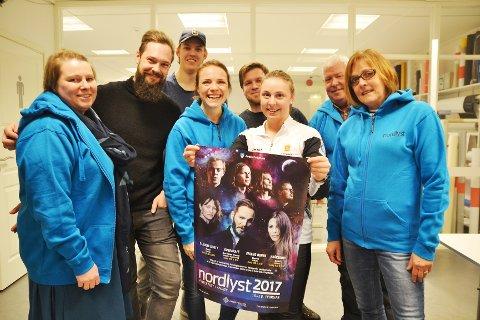 – Vi er i rute og gleder oss til neste uke, stråler komitéen som arrangerer Nordlyst 2017 i Andøy. (Foto: Fredrik Sørensen)