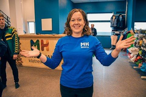 Driftsleder Marita Larsos i Mørkvedhallen Klatresenter.