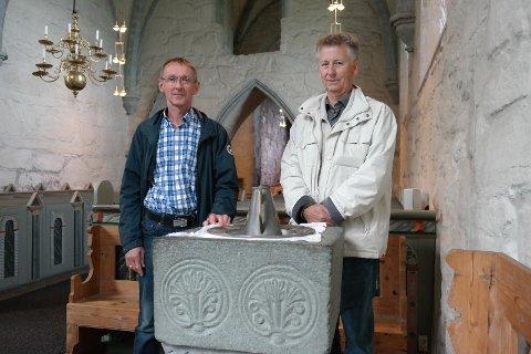 Ole Hodnefjell (til venstre) og Arild Vøllestad gleder seg til seminaret om augustinerordenenes spiritualitet, kunst og arkitektur.