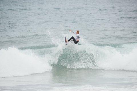 På bølgen: Frode Goa surfet i land en 31. plass under EM-deltakelsen.