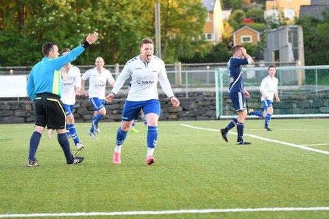 Sikret seier: Ørjan Hviding satte inn det ene målet som vippet Kvitsøy over fra uavgjort til seier borte mot Bogafjell fredag kveld. Her fra en tidligere kamp mot Pol.