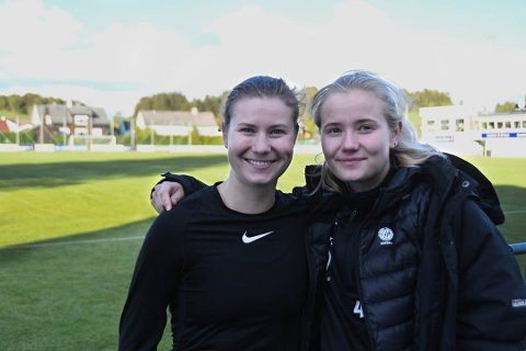 Scoringer: Serine Tvedt Johannessen (t.v.) sammen med søster Karen Tvedt Johannessen, fant begge nettmaskene mot Vard Haugesund tirsdag.