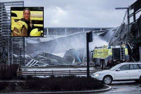 Røykdykkerleder: Alfhild Randi Håheim var i brannbilen som først ankom parkeringshuset som sto i brann.