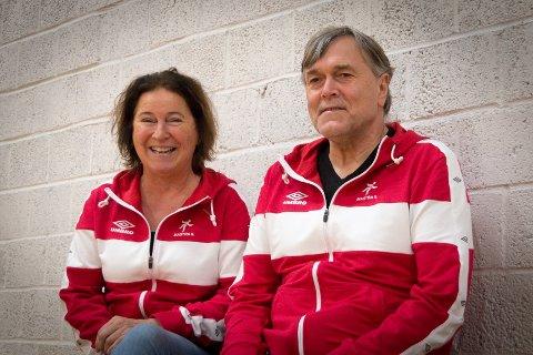 Faste tilskuere: Mona Sem Henriksen og Finn Klausen har vært fast inventar i Mastrahallen de siste årene.