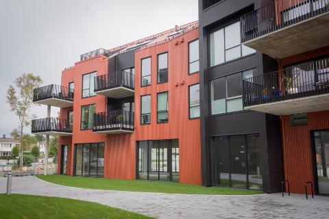 Ferdige: Leilighetene er ferdige i boligprosjektet i sentrum, men fem av leilighetene er fortsatt til salgs.