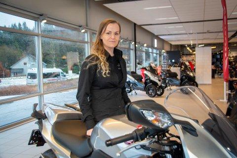 Hobby og jobb: Linn Kant har funnet drømmejobben, som daglig leder i MC Arena.