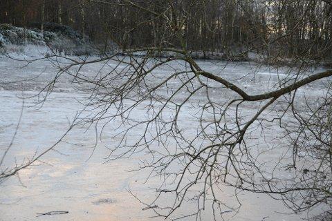Her kan du se tydelige forskjeller på isen.