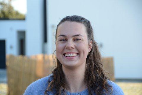 Hjemme: Marie West Simonsen bor egentlig i Oslo, en på grunn av korona er hun hjemme på Randaberg for en periode.